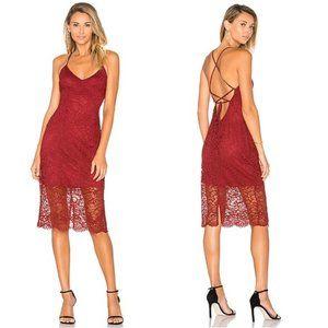 Lovers + Friends Romance Me Lace Midi dress